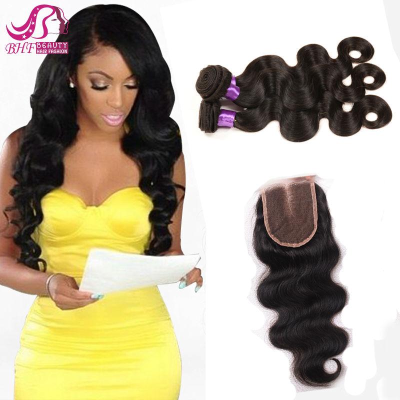 8A Grade Peruvian Virgin Hair Body Wave With Closure Cheap Human Hair With Closure Piece Ms Lula Hair With Closure And Bundles