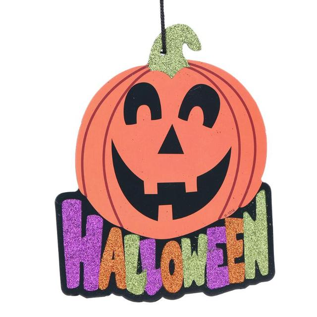 Linterna De Calabaza De Papel Colgante Ornamento Fiesta De Halloween - Calabaza-de-papel