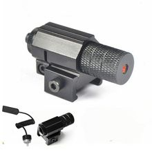 купить Tactical Hunting Red Dot Mini Red Laser Sight Scope Weaver Picatinny Rail Mount Hunting Accessories for Gun Rifle Pistol дешево