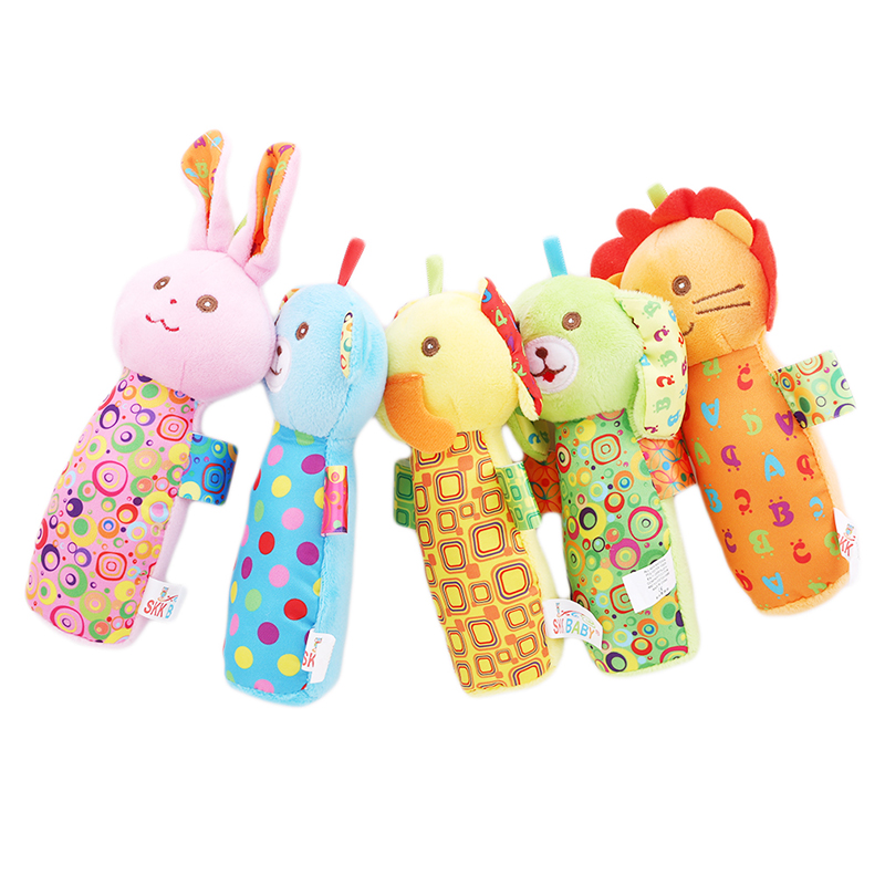 Baby Rattles Mobiles Sticks Soft Plush Doll Cotton Cartoon Monkey Rabbit Cute Bed Hanging Hand Bell Animal Toy Kids Toys Baby & Toddler Toys Toys & Hobbies