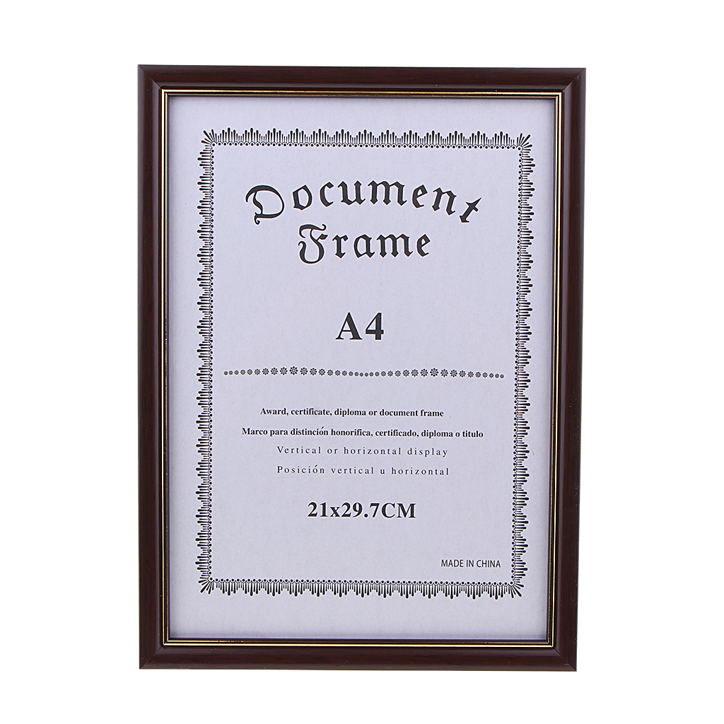 A4 Delicate Wooden Display Frame –Used for Diploma, Certificate, Photo, Artwork, Picture, Documents, Poster Frame