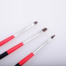 3Pcs Nail Art Painting Pen Brush Fine Handle UV Gel Brushes French Stripes Flower Drawing Brush Pen Manicure Tools(China)