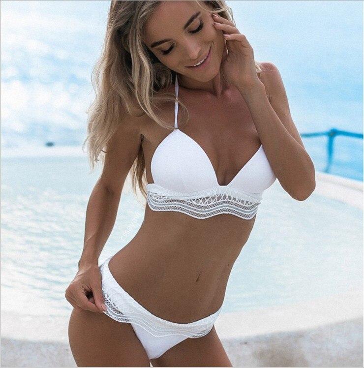 2018 Sexy bikini set push up swimsuit female swimwear women bikinis bathing suit swim wear biquinis Plus Size Swimming Suits