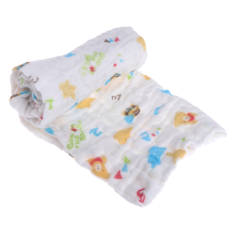 5 pcs Newborns Cotton Towel 6 Layers Baby Wipe Towel Soft Infant Girls Boys Feeding Handkerchief Wash Cloth