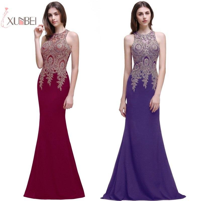 2019 Elegant Purple Burgundy Mermaid Long   Bridesmaid     Dresses   Plus Size Wedding Guest Party   Dress   robe demoiselle d'honneur