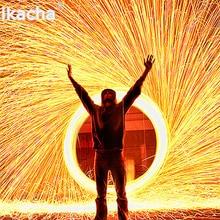 במגמת צילום אש מרהיב תמונה Selfie כלי פלדת צמר באיכות גבוהה מתכת סיבי עבור אור ציור ארוך חשיפה