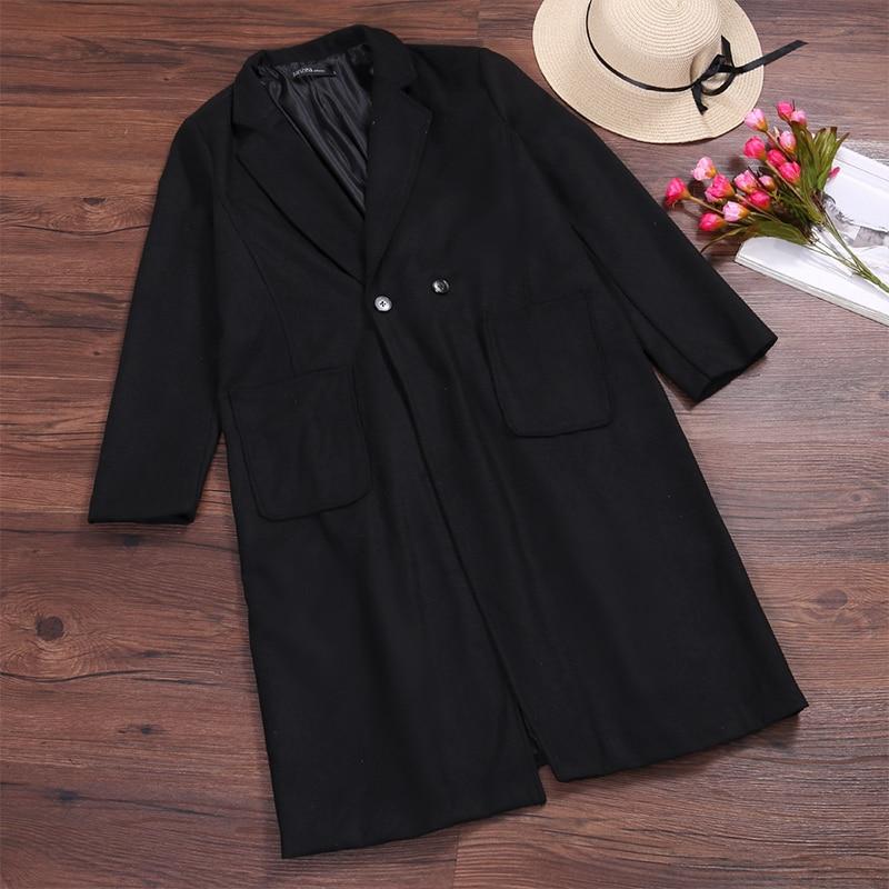 2019 ZANZEA Women Wool Blends Coat Winter Autumn Female Long Sleeve Double Breasted Long Jacket Plus Size Casual Windbreakers 11
