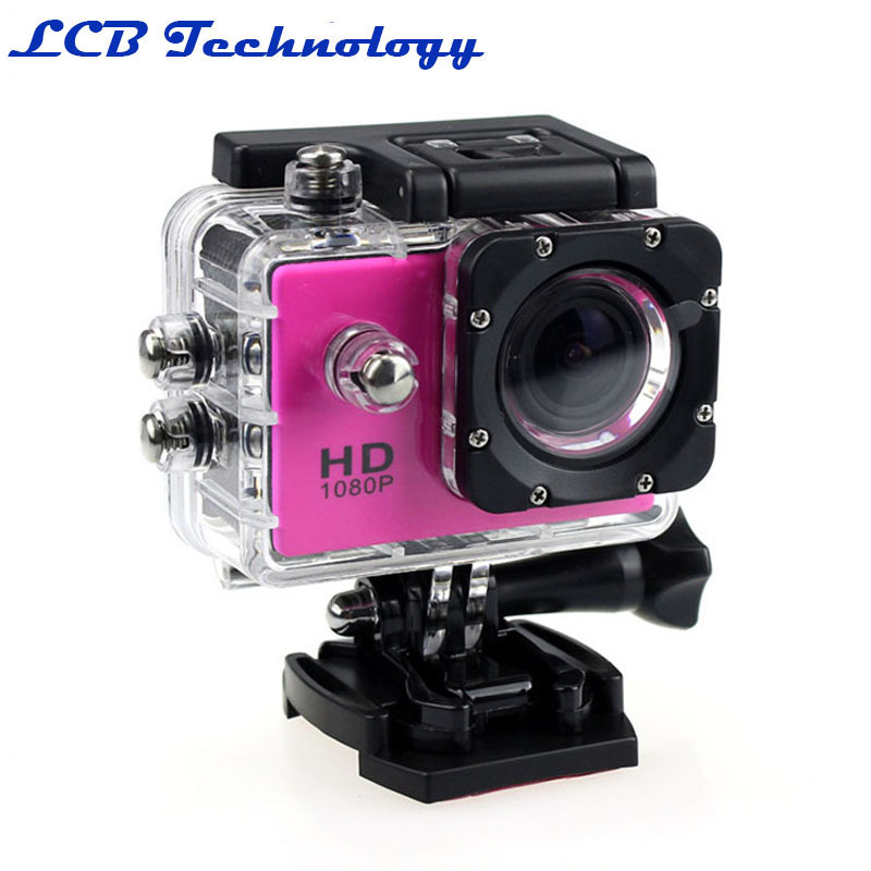 ФОТО Full HD 1080P Sports And  Action Camera Novatek 96650 DV-30A  Helmet Waterproof Camera Motor Mini DV Diving Housing Case Set