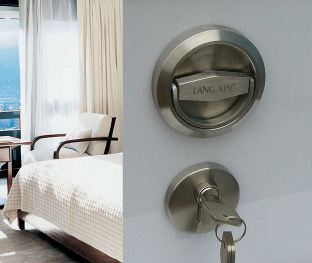 Door Locks Stainless Steel 304  Recessed Cup Handle Privacy Door Locks Set