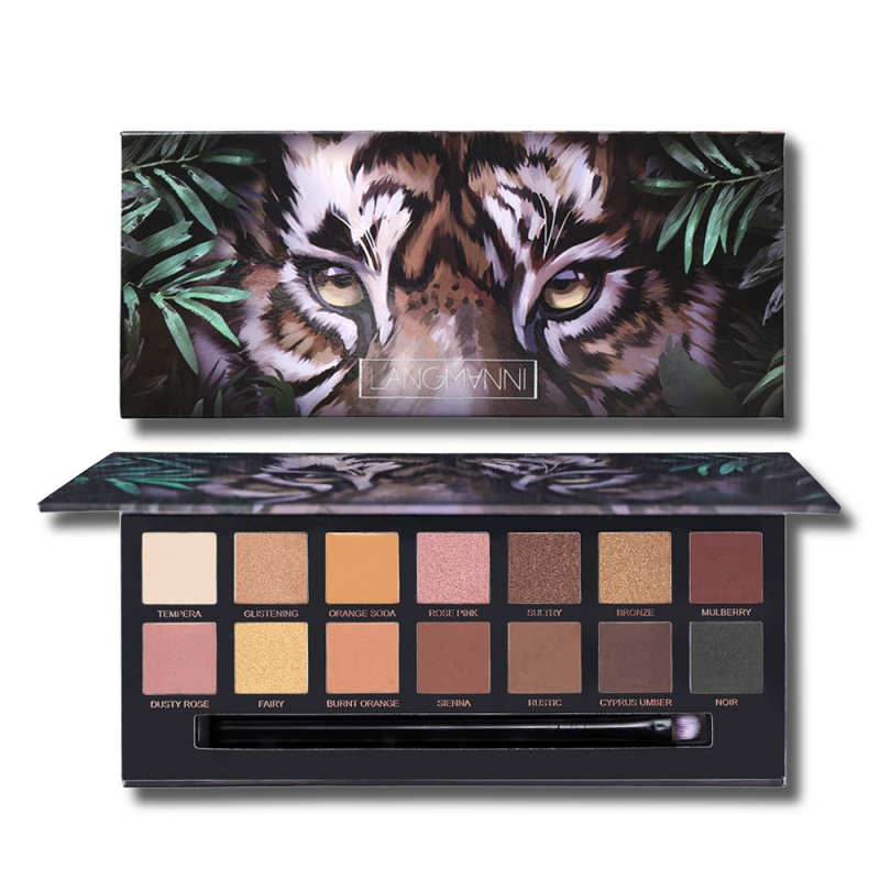 New 14 Colors Shimmer Matte Waterproof Smudge-proof Long Lasting Colorfast Tiger  Eye Shadow Palette