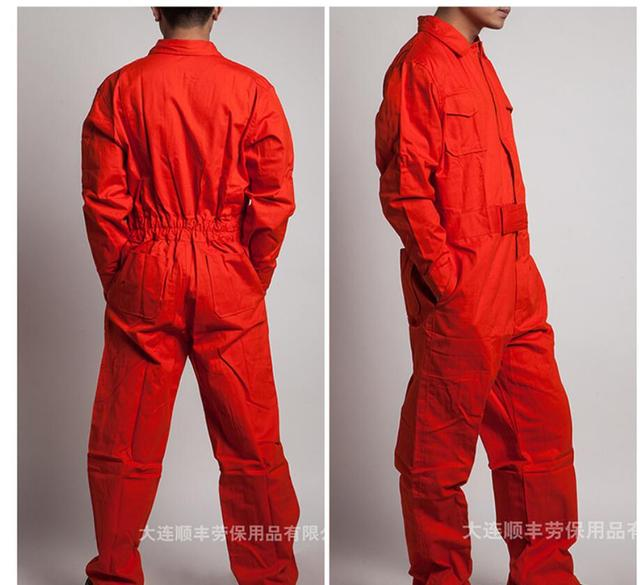 M-4xl Work Siamese Overalls Men's Auto Repair Suit Female Spring And Autumn Work Jumpsuit Long-sleeved Cotton Tooling Coverall 2