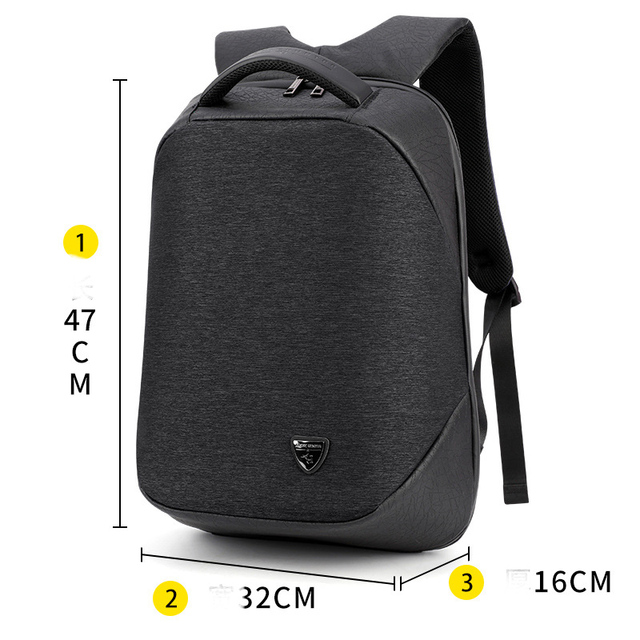 Anti Theft Backpack 2018 Men USB Black 15inch Laptop Fashion Travel School Bags Drop Shipping New Multi-functional Computer Bag