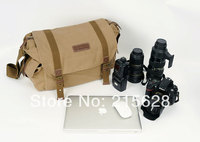 Large capacity waterproof canvas DSLR camera Video bag photo Shoulder SLR laptop backpack for canon eos Nikon Pentax Fujiflim