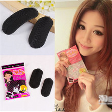 2 Pcs/Set Hot Sale Fluffy Crescent Clip Japanese Style Bangs Barrettes Paste Root Hair Increased Device Simple Styling Tool