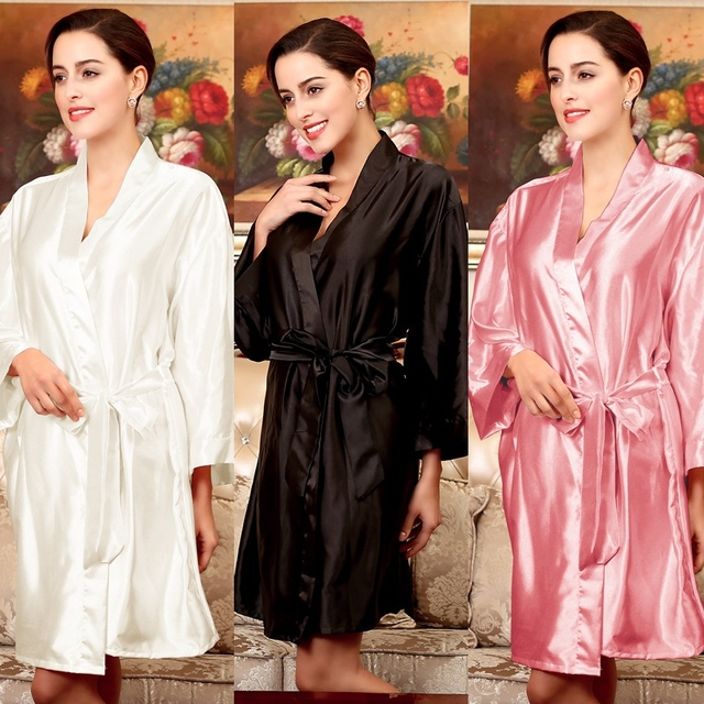 YT010  Sexy Silk Kimono Sexy Dressing Gown Bath Robe Nightdress Bridesmaid Robes Nightgown Fashion Hen Party Robes Summer Syle