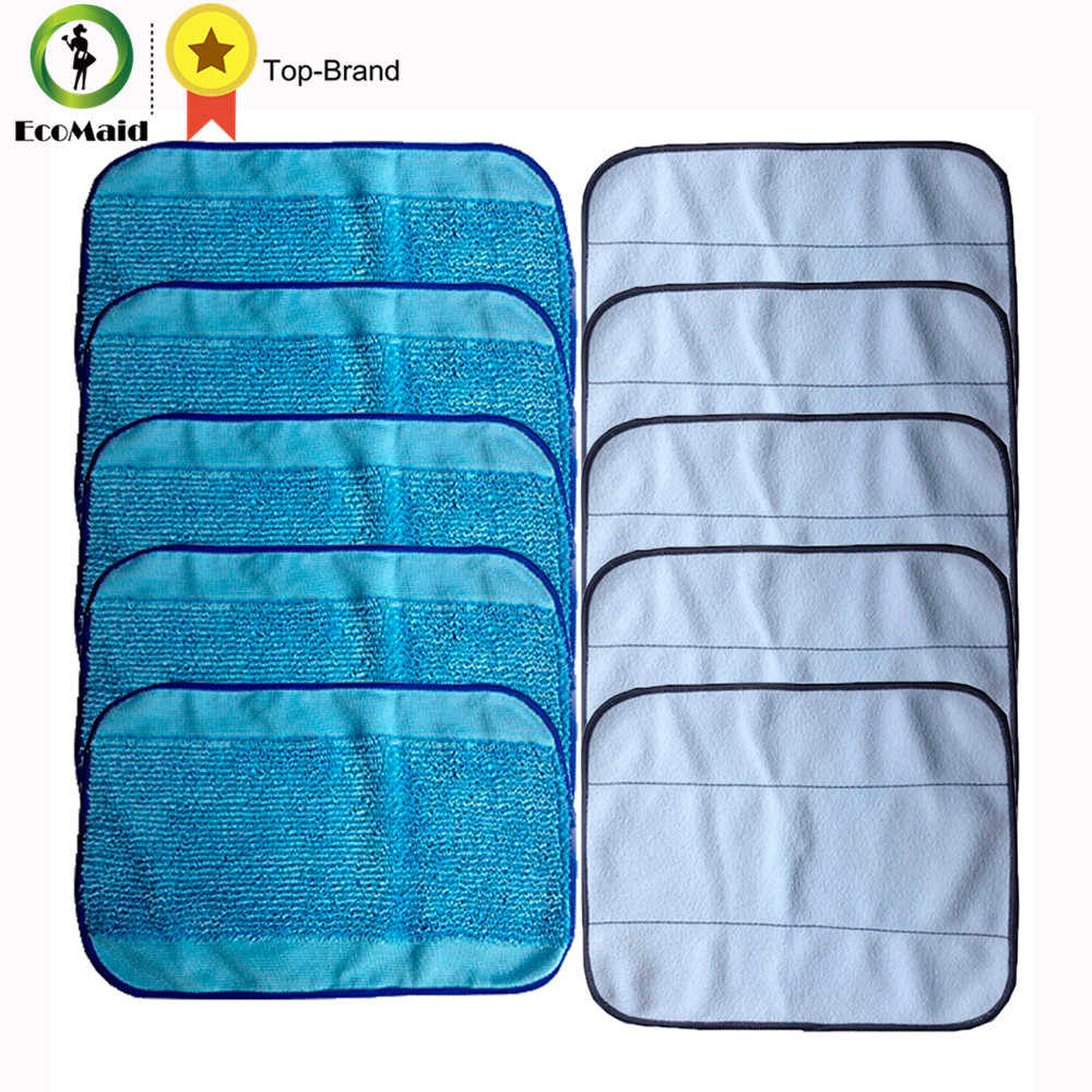 5 Wet& 5 Dry Microfiber Mopping Cloths For iRobot Braava 380 380t 320 Mint 4200 4205 5200 5200C Robot Replacement Cleaning Tool 12pcs wet cloths for braava replacement washable pro mopping cloths for irobot braava vacuum cleaner 380t 320 mint 4200 5200