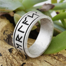 Vintage Norse Viking Futhark Ring pagan viking Jewelry Drop Shipping 1pc(China)