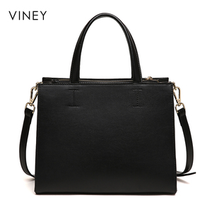 Image 4 - Viney Handbag Female 2019 New Red Small Black Bag Simple Leather Tide Leisure One Shoulder Slant Bag