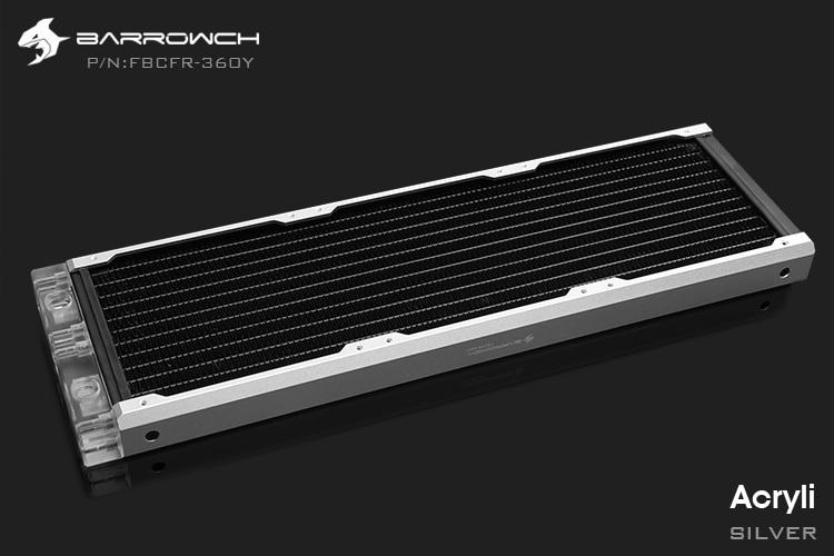 Barrowch FBCFR-360, caméléon poisson modulaire 360mm radiateur, acrylique/POM radiateur amovible, adapté pour les ventilateurs 120mm