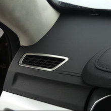 For Geely Atlas 2016 2017 2018 Stainless steel Accessories Car front Air conditioning Vent outlet frame panel Cover Trim стоимость