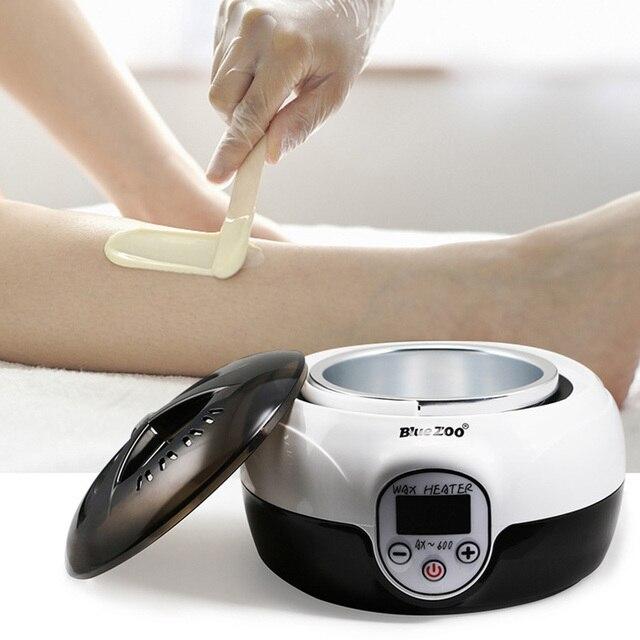 LED Temperature Electric Screen Warmer Wax Heater Hands Feet Epilator Wax Heater Machine Wax Bean Hair Removal Tool