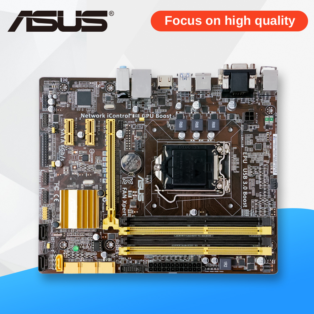 Asus B85M-G Desktop Motherboard B85 Socket LGA 1150 i3 i5 i7 E3 DDR3 HDMI DVI Micro-ATX On Sale asus b85m e desktop motherboard b85 socket lga 1150 i3 i5 i7 ddr3 32g atx uefi bios original used mainboard on sale