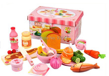 New wooden toy kitchen set Dinner toys Baby toyFree Shipping