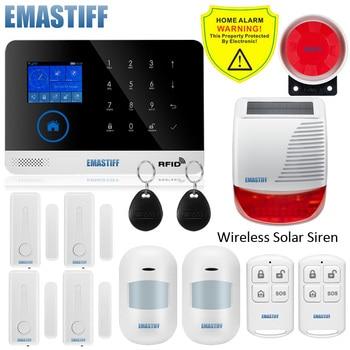 Wireless SIM GSM Home RFID Burglar Security LCD Touch Keyboard WIFI GSM Alarm System Sensor kit English,Russian,Spanish Voice 14