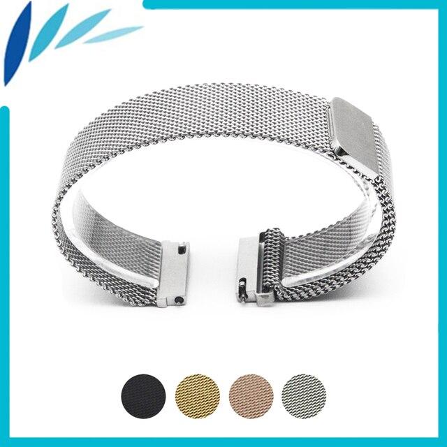 2bfe8c44c67 Acier inoxydable bande de montre 18mm 20mm 22mm pour rolex magnétique  fermoir bracelet libération rapide boucle