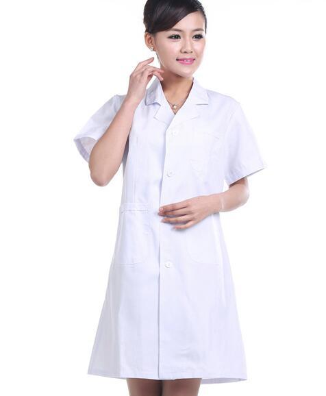 Белая короткая женская униформа для медсестры, больничная медицинская униформа, одежда, скрабы, униформа для гостиничного бизнеса, женские лабораторные пальто, униформа 90 - Цвет: Women White