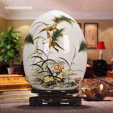Antique Jingdezhen Ceramic Vase Lucky Egg Powder Enamel Thin Prosperous Egg Contemporary Home Decoration Furnishing Article