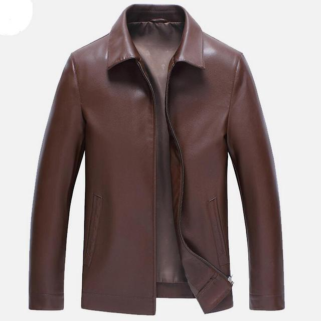 3 Color Men's Leather Jackets Spring and Autumn Black Leather Jacket Men Faux Leather Coats Loose Big Size PU Jackets Overcoats