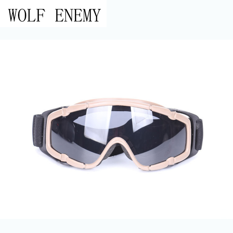 OK Goggle Glasses Airsoft Tactical 1pcs of Lens Outdoor Hunting Protective Anti-fog Adjustable Goggle 2 Color