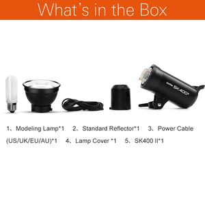 Image 2 - Đèn Flash Godox SK400 II 400Ws GN65 Tích Hợp Godox 2.4G Không Dây X Hệ Thống Phòng Thu Chuyên Nghiệp Đèn Flash cho Tặng Chụp Sáng Tạo