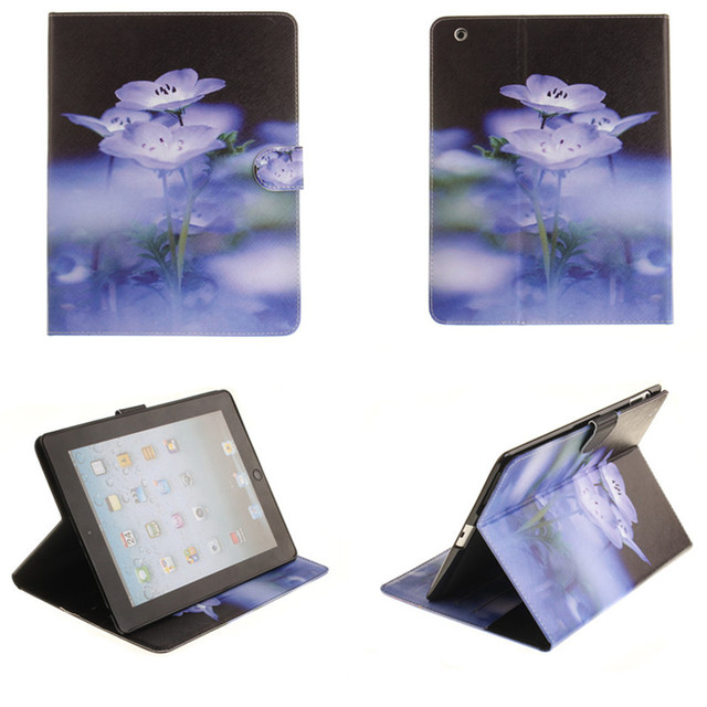 Tx para ipad 2/3/4 coque pu leather case impresión paiting flip libro en folio stand case para apple ipad2 ipad3 ipad4 carpeta linda cubierta