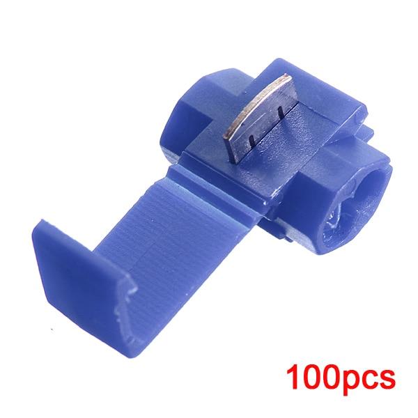 цена на 100pcs 802P3 Blue Scotch Lock Quick Splice Crimp Terminal G14 18-14 AWG Hard Soft 1.25-2.0 Wire Connector