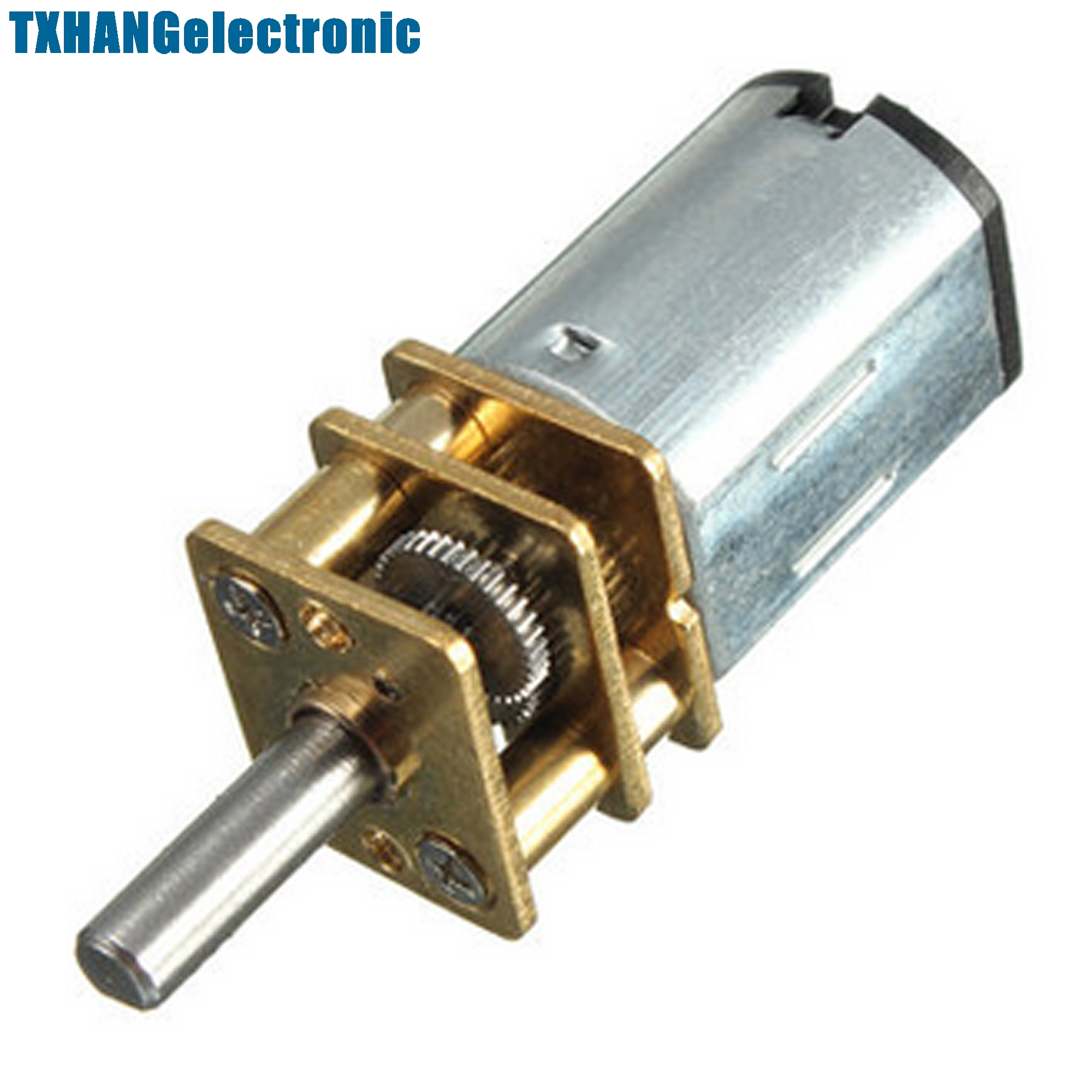 Micro Speed Reduction Gear Motor with Metal Gearbox <font><b>Wheel</b></font> DC 6V 30RPM <font><b>N20</b></font> image