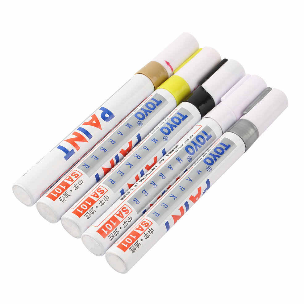 Hot Universal White Car Motorcycle Whatproof Permanent Tyre Tire Tread Rubber Paint Marker Pen 5 colors Hot