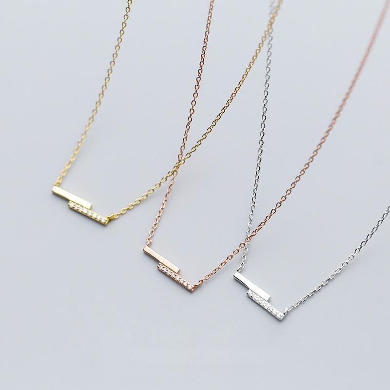 Bar Necklace 925 Silver Star Choker Kolye Gold Pendant Charm Minimalism Vintage Boho Bijoux Femme Collier Necklace for Women