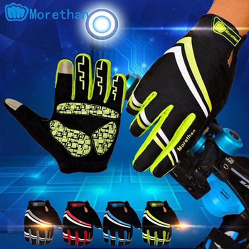 Outdoor sports equipment full finger windstopper touch screen winter cycling gloves