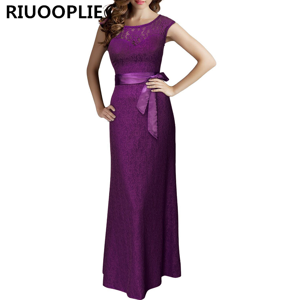 RIUOOPLIE Womens Elegant Sexy Crochet Hollow Out Party Evening Special Occasion Dress