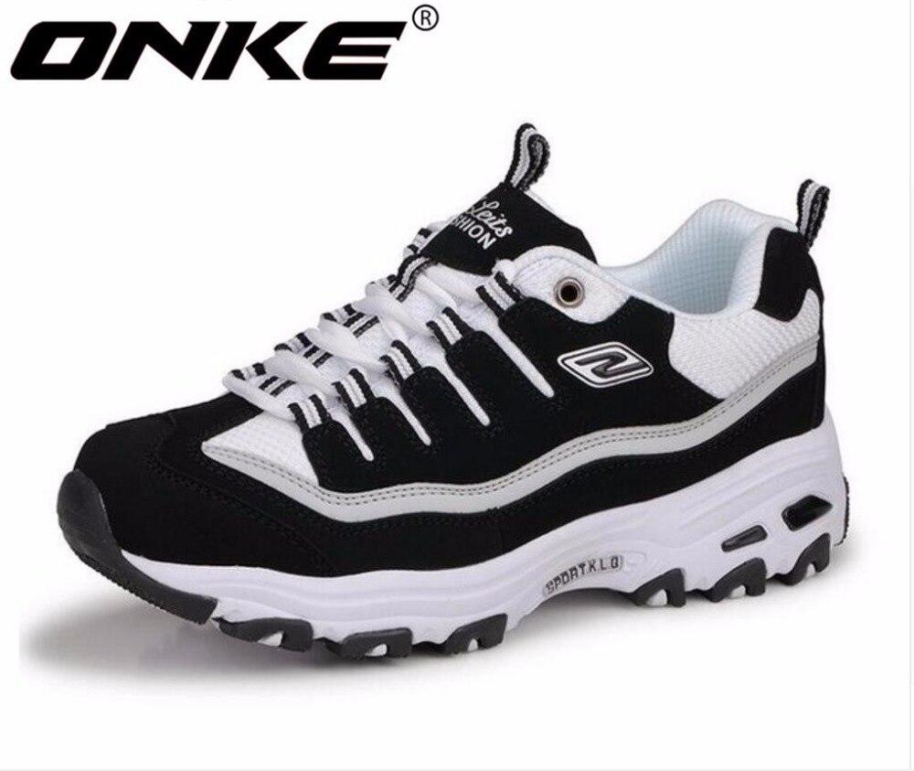 ONKE Nouvelle annonce de ventes Chaudes Printemps et Automne Respirant Femmes & Hommes chaussures de course sneakers lovers chaussures de sport 795-595