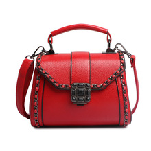 Vintage PU Leather Ladies HandBag Women Messenger Bags Totes Lock Chain Designer Crossbody Shoulder Bag Boston Hand Bag Hot Sale
