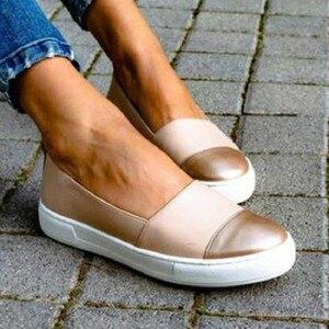 Image 2 - שטוח נעלי נשים מקרית סליפ ופרס Mocassin Femme פלטפורמת נעלי גבירותיי Wedage נעלי לנשים מטפסי Zapatos Mujer 2020