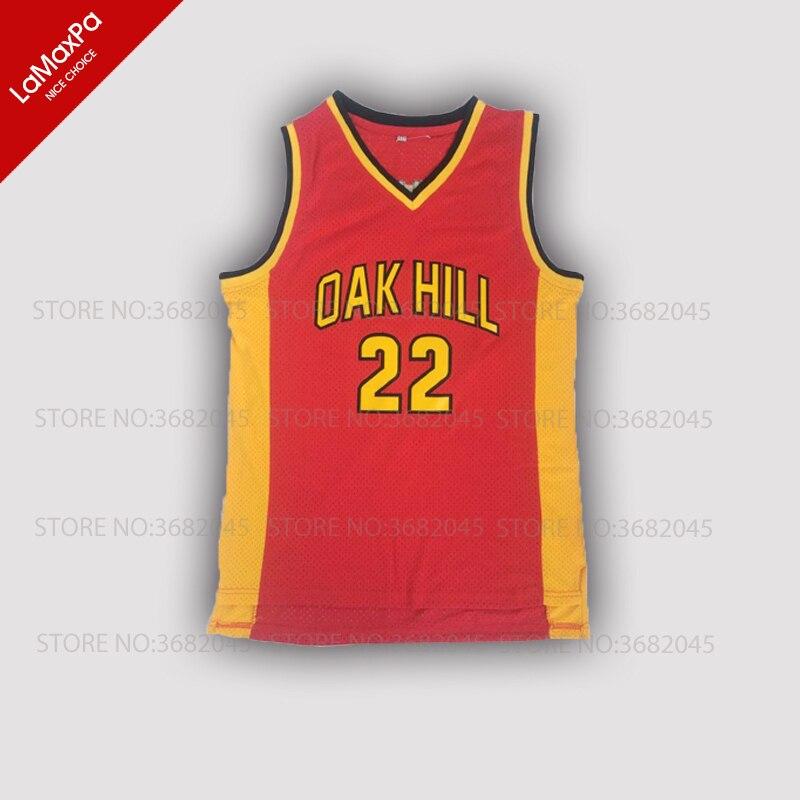 № 22 Ретро Мужские Дешевые Кармело Энтони Баскетбол Трикотажные дуб Hill High School Возврат прошитой Вышивка высокое качество рубашки