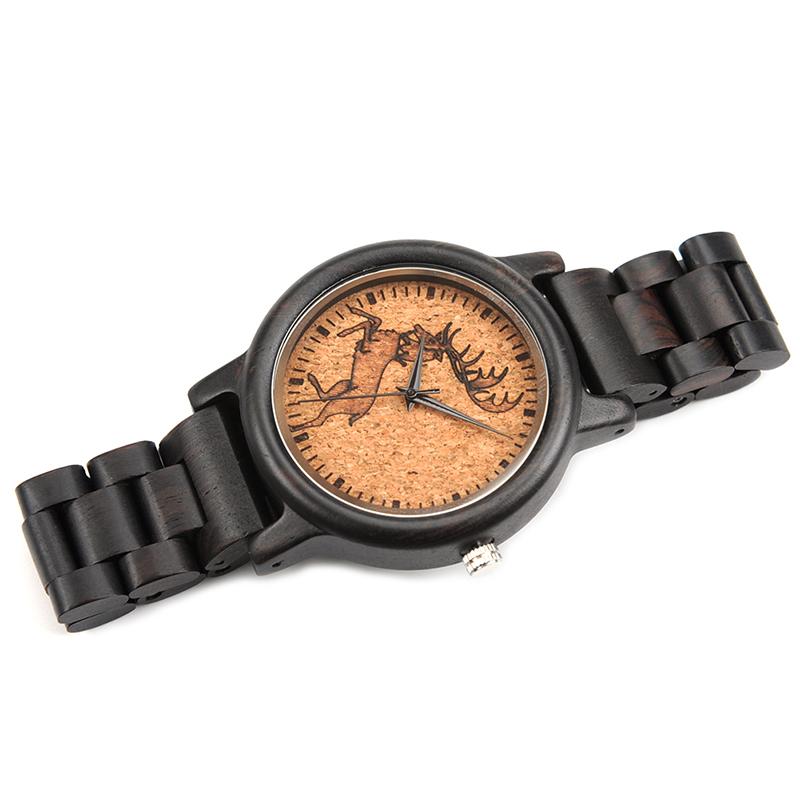 2017 New Arrival Fashion BOBO BIRD Watch Men Black Wood Wristwatches Wooden Strap Quartz Watch Gifts relogio feminino (8)