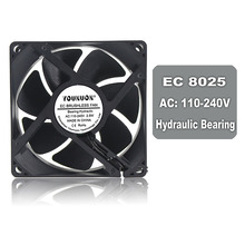 YOUNUON Hydraulic 80mm 8m 8025 EC Brushless Fan AC 110V 115V 120V 220V 240V Axial x 25mm Comes with Srews/Grill
