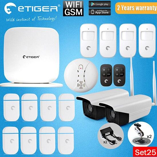 Etiger eTiger WiFi /GSM Newest Intruder Burglar gsm sms alarm alarm system with Outdoor IP Camera стационарные gsm телефоны