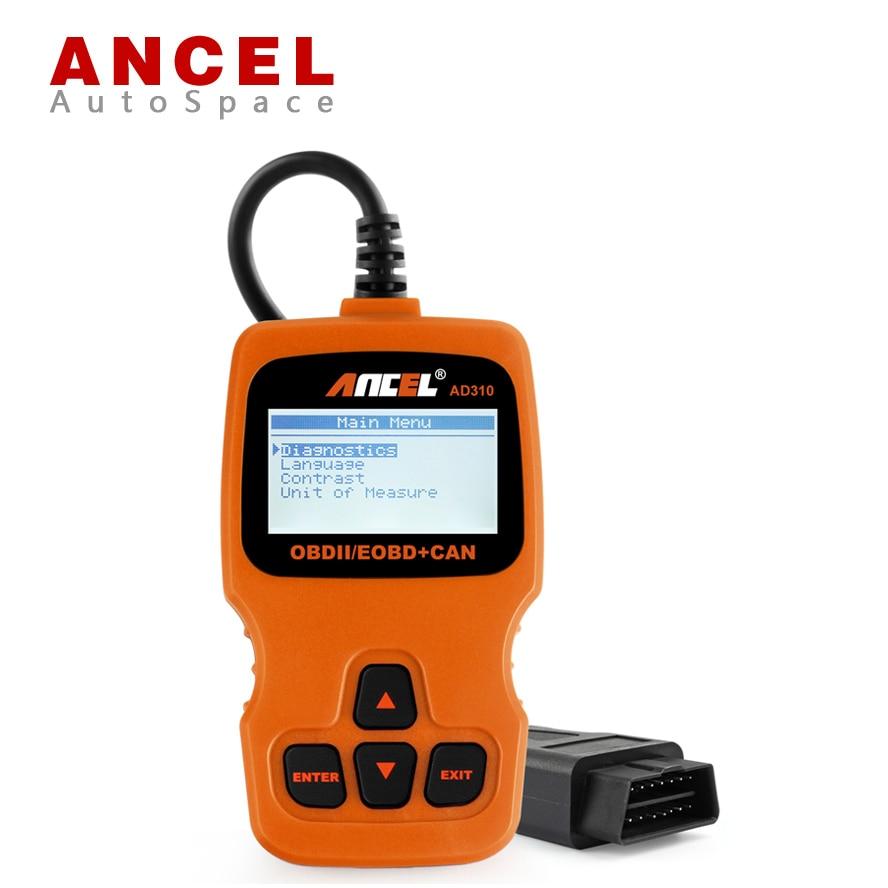 Prix pour ANCEL AD310 Voiture OBD 2 Faute Lecteur de Code Scanner de Diagnostic Automobile outil Benzine Livraison Cadeau Puce Tuning Box Nitro OBD2 PK VS890
