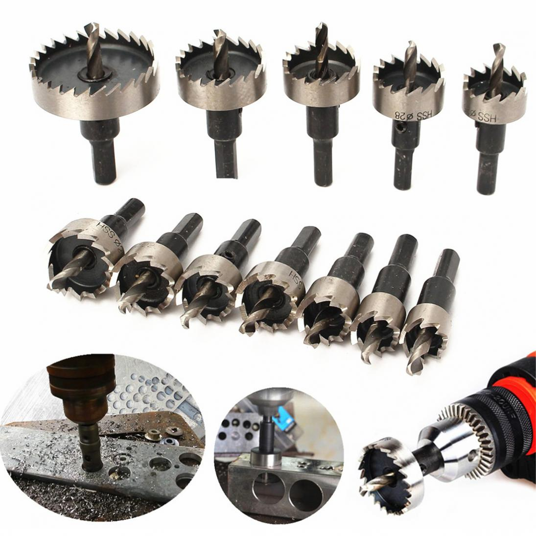 12pcs Hole Saw Tooth Kit HSS Steel Core Drill Bit Set Cutter Tool For Metal Wood Alloy Core Drill Bit sets